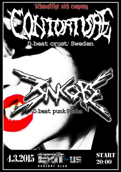 4.3.2015 - Praha - EXIT-US - with : CONTORTURE (SWE)